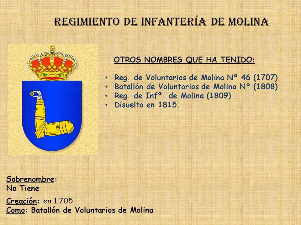 Regimiento de Infantería DE LA REINA nº 2 PRINCIPALES HECHOS DE ARMAS Regimiento de infantería irlada Guerras con Sucesión (1709-1714) Guerras de Ital