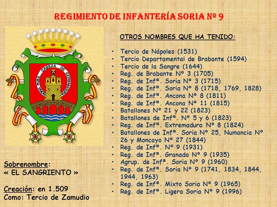 Regimiento de Infantería DE LA REINA nº 2 Regimiento de Infantería ZAMORA nº 8 PRINCIPALES HECHOS DE ARMAS Guerras con Francia (1582-1583, 1592-1598,