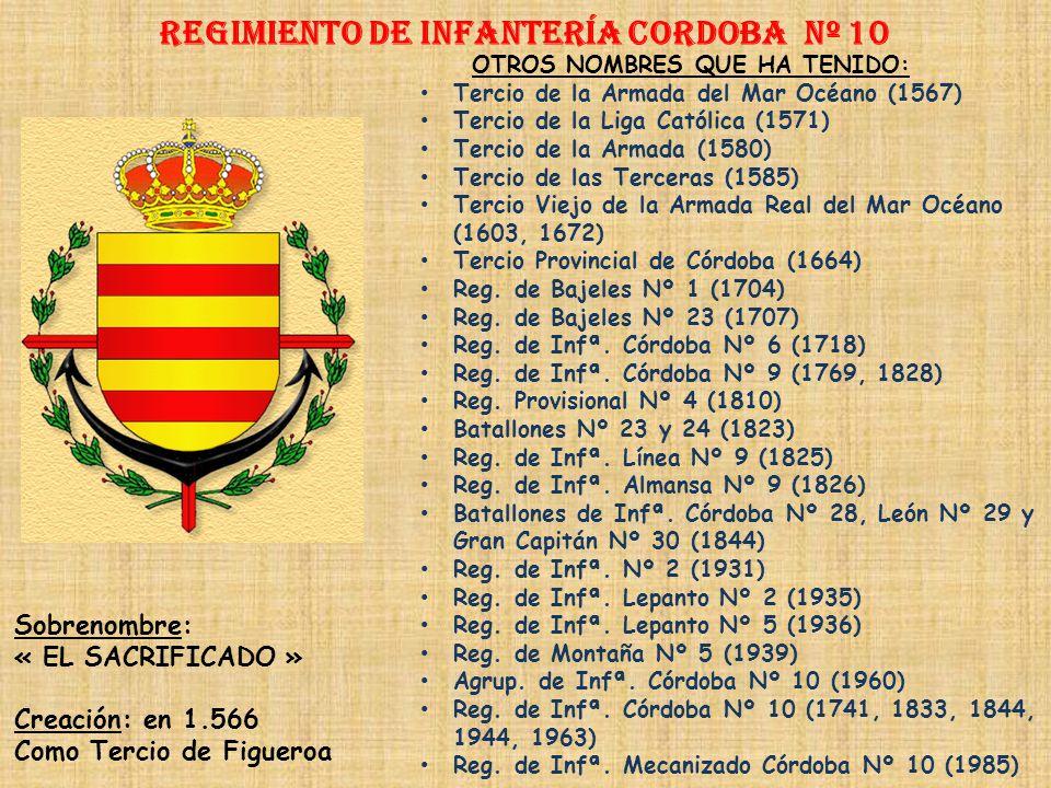 Regimiento de Infantería DE LA REINA nº 2 Regimiento de Infantería SORIA nº 9 PRINCIPALES HECHOS DE ARMAS Guerras de la Liga Católica (1509-1529) Guer