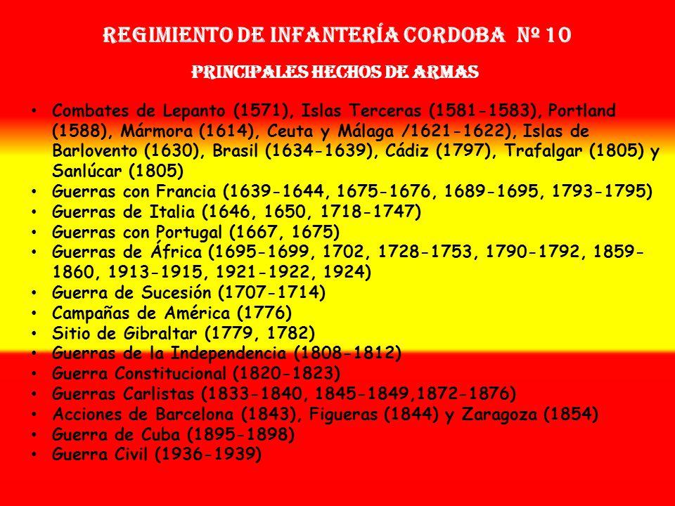 Sobrenombre: « EL SACRIFICADO » Creación: en 1.566 Como Tercio de Figueroa OTROS NOMBRES QUE HA TENIDO: Tercio de la Armada del Mar Océano (1567) Terc