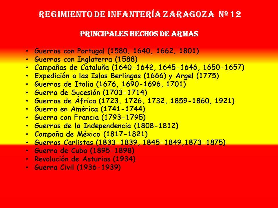 Sobrenombre: « EL GLORIOSO » Creación: en 1.579 Como: Tercio de D. Niño OTROS NOMBRES QUE HA TENIDO: Tercio Departamental de Lisboa (1580) Tercio de L
