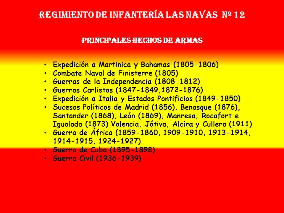 Sobrenombre: No tiene Creación: en 1.804 Como: Tercio de Tejas OTROS NOMBRES QUE HA TENIDO: Batallón de Infª. Ligera Las Navas de Tolosa (1808) Batall