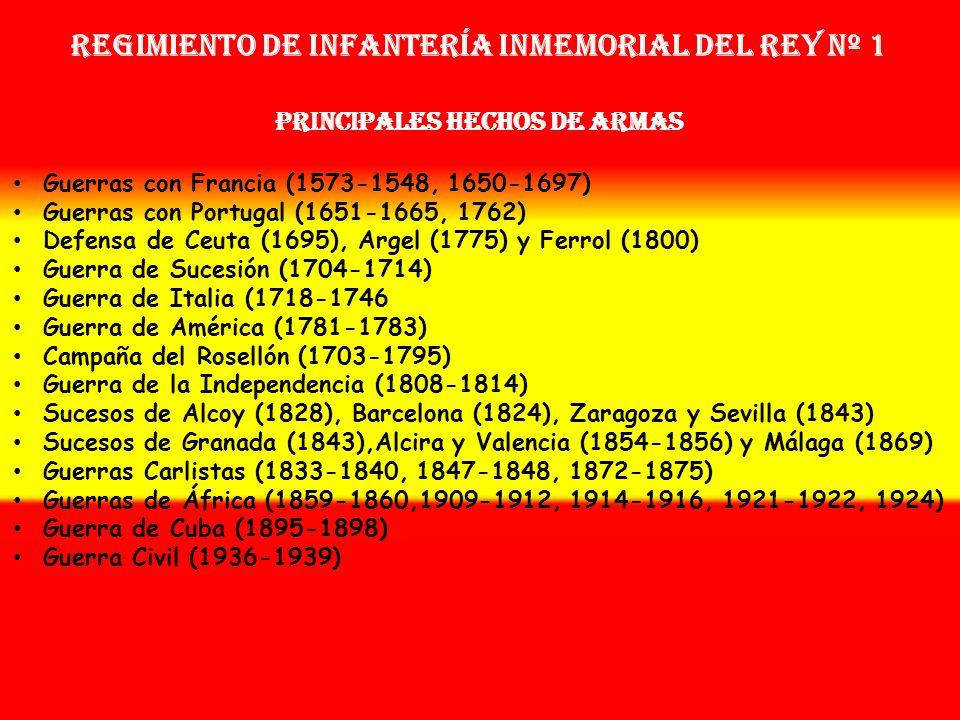 Sobrenombre: « EL FRENO » Creación: en 1.634 Como Coronelía de la Guardia del Rey Regimiento de Infantería Inmemorial del Rey nº 1 OTROS NOMBRES QUE H