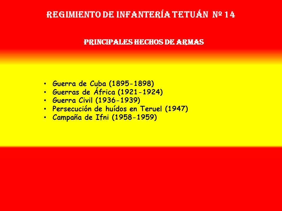 Sobrenombre: No Tiene Creación: en 1.877 Como: Regimiento de Infantería Tetuán Nº 47 OTROS NOMBRES QUE HA TENIDO: Reg. de Infª. Nº 45 (1893) Reg. de I