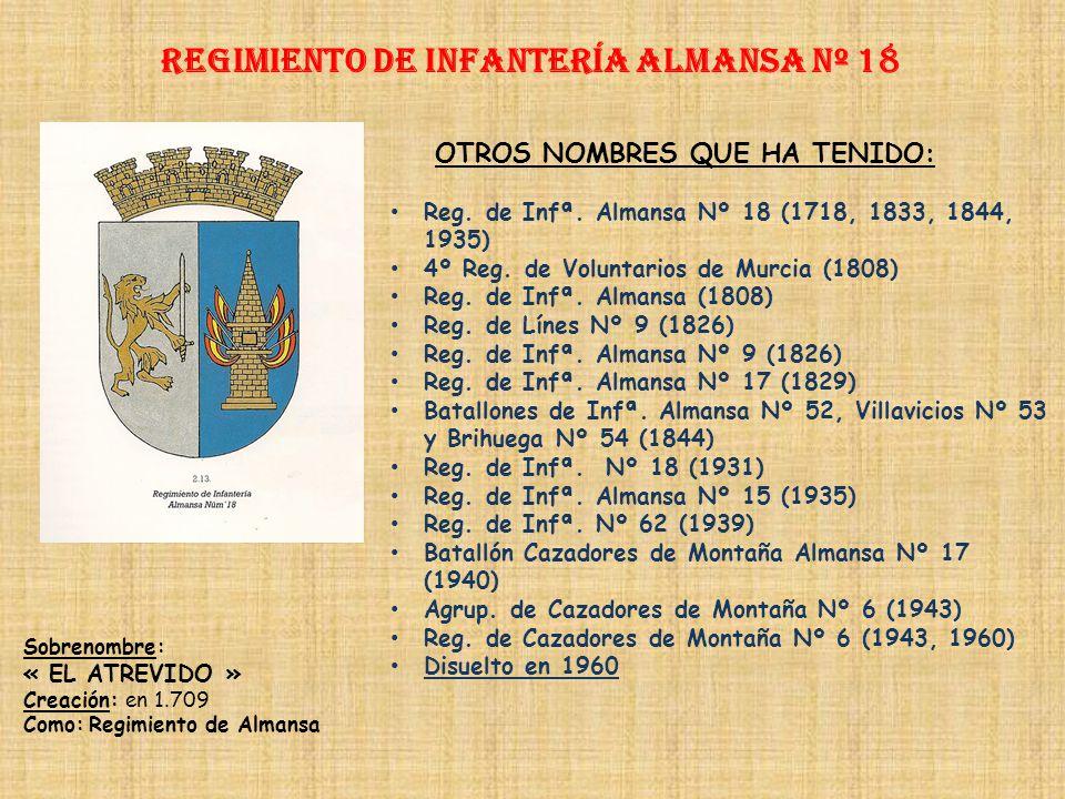 Regimiento de Infantería DE LA REINA nº 2 Regimiento de Infantería ESPAÑA nº 18 PRINCIPALES HECHOS DE ARMAS Segunda Guerra Carlista (1875-1876) Primer