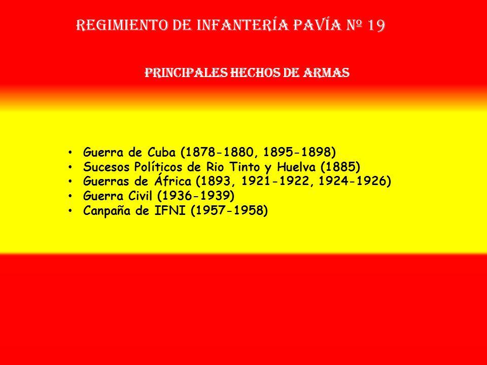 Sobrenombre: No Tiene Creación: en 1.877 Como: Regimiento de Infantéría Pavía Nº 50 Regimiento de Infantería PAVÍA nº 19 OTROS NOMBRES QUE HA TENIDO: