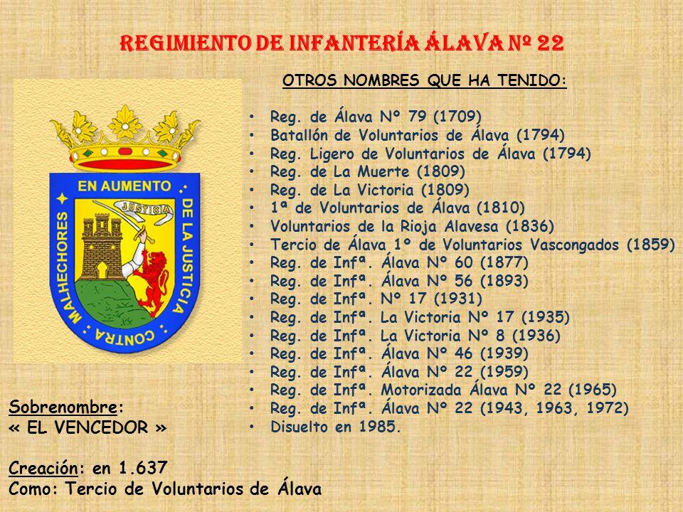 Regimiento de Infantería DE LA REINA nº 2 Regimiento de Infantería VIZCAYA nº 21 PRINCIPALES HECHOS DE ARMAS Guerras de África (1893, 1924-1927) Guerr