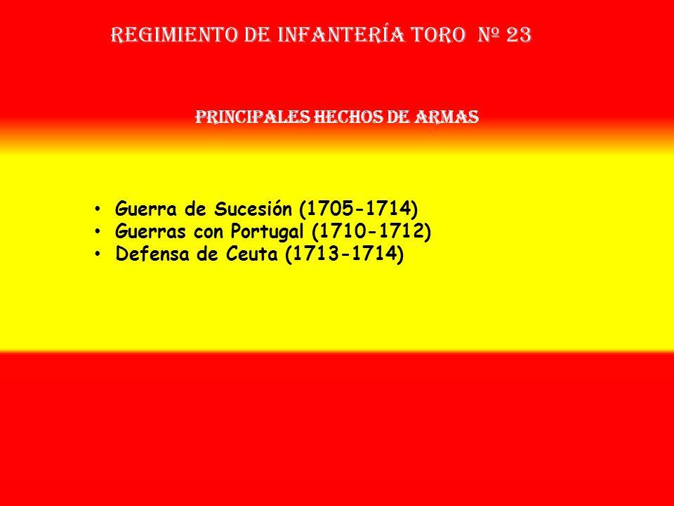 Sobrenombre: No Tiene Creación: en 1.704 Como: 2º Escuadrón del Tercio de Segovia OTROS NOMBRES QUE HA TENIDO: Tercio de Toro (1707) Reg. de Toro Nº 8