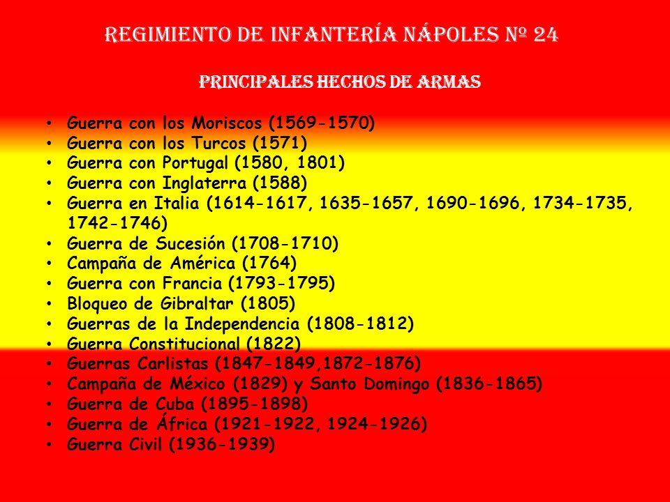 Sobrenombre: « EL MAR Y LA TIERRA » Creación: en 1.566 Como Tercio Nuevo de Nápoles OTROS NOMBRES QUE HA TENIDO: Tercio Fijo de la Mar de Nápoles (163