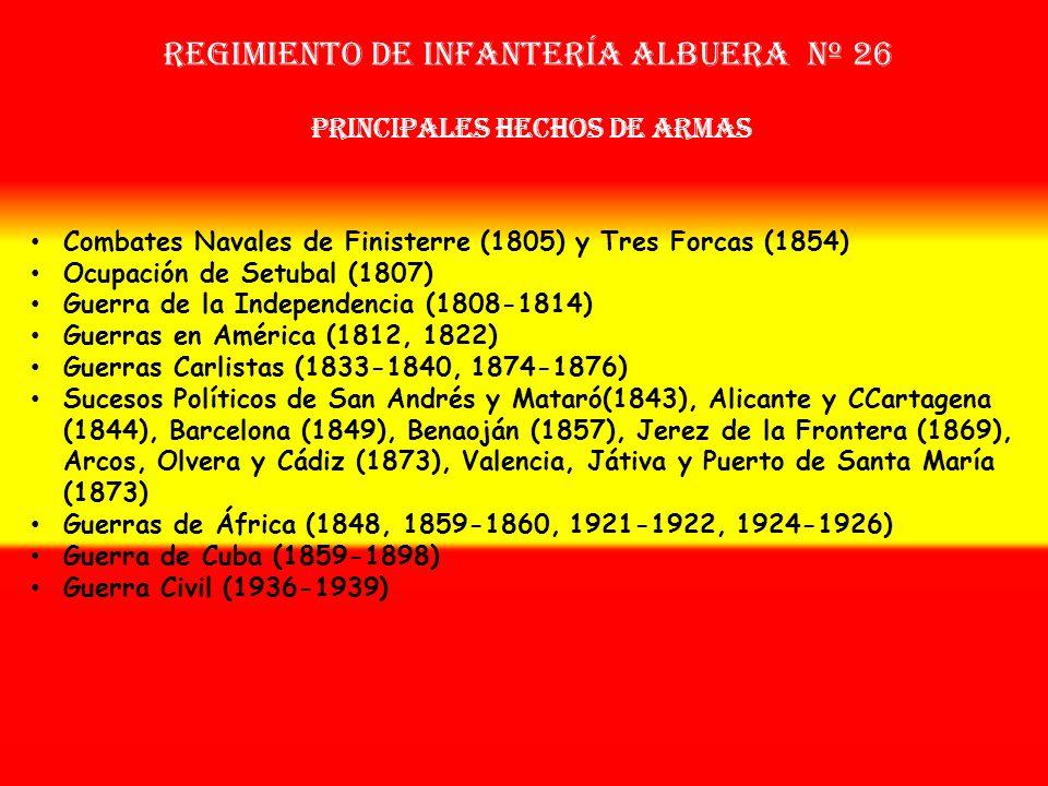 Sobrenombre: « EL INCANSABLE » Creación: en 1.802 Como: Batallón Ligero de Campo Mayor OTROS NOMBRES QUE HA TENIDO: Reg. de Infª. Ligera de Albuera Nº