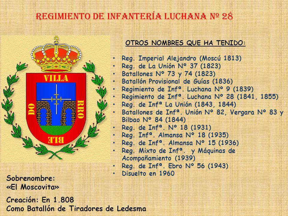 Regimiento de Infantería DE LA REINA nº 2 Regimiento de Infantería ARGEL nº 27 PRINCIPALES HECHOS DE ARMAS Defensa de Ceuta (1694-1697, 1703) Guerras