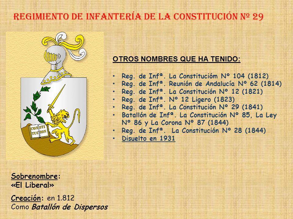 Regimiento de Infantería DE LA REINA nº 2 Regimiento de Infantería de la victoria nº 28 PRINCIPALES HECHOS DE ARMAS Guerra de Sucesión (1704-1713) Gue