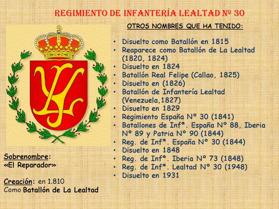 Regimiento de Infantería DE LA REINA nº 2 Regimiento de Infantería flandes nº 30 PRINCIPALES HECHOS DE ARMAS Guerra de Portugal (1664-1665) Guerra de
