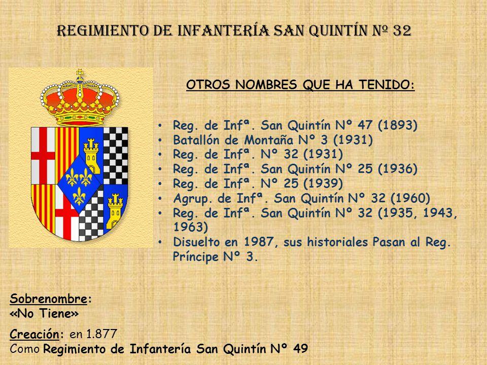 Regimiento de Infantería DE LA REINA nº 2 Regimiento de Infantería isabel ii nº 32 PRINCIPALES HECHOS DE ARMAS Guerras Carlistas (1833-1939, 1873-1876