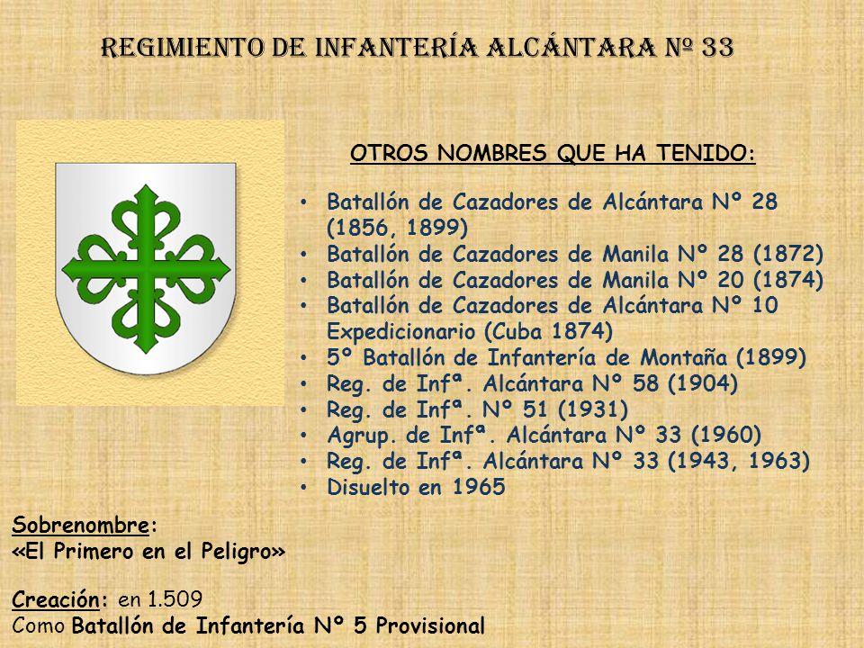 Regimiento de Infantería DE LA REINA nº 2 Regimiento de Infantería san quintín nº 32 PRINCIPALES HECHOS DE ARMAS Guerras de África (1893, 1921-1924, 1