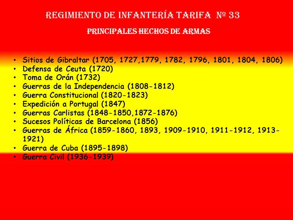 Sobrenombre: «No Tiene» Creación: en 1.702 Como Milicias de Tarifa OTROS NOMBRES QUE HA TENIDO: Compañía de Escopeteros de Gatares (1705) Batallón de