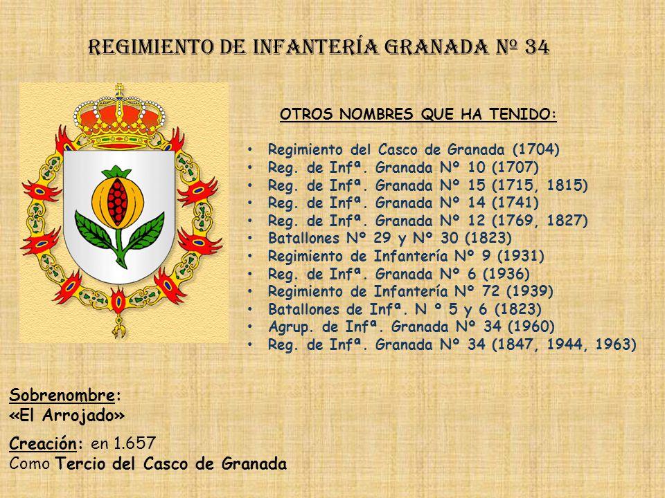 Regimiento de Infantería DE LA REINA nº 2 Regimiento de Infantería tarifa nº 33 PRINCIPALES HECHOS DE ARMAS Sitios de Gibraltar (1705, 1727,1779, 1782