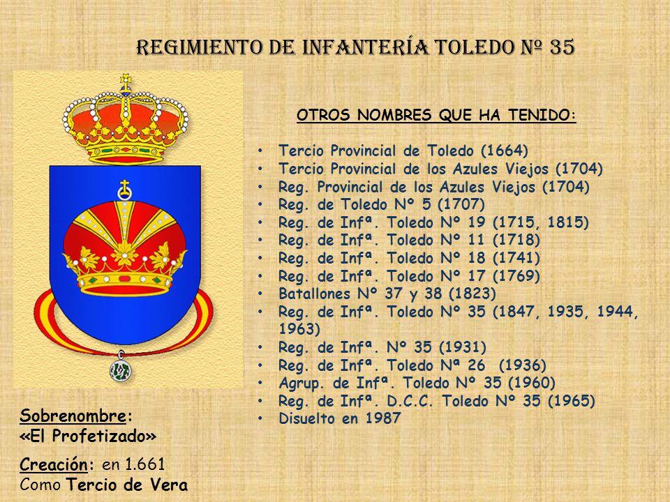 Regimiento de Infantería DE LA REINA nº 2 Regimiento de Infantería granada nº 34 PRINCIPALES HECHOS DE ARMAS Guerra con Portugal (1657-1665, 1720, 176