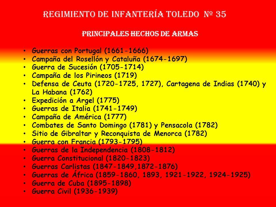 Sobrenombre: «El Profetizado» Creación: en 1.661 Como Tercio de Vera OTROS NOMBRES QUE HA TENIDO: Tercio Provincial de Toledo (1664) Tercio Provincial