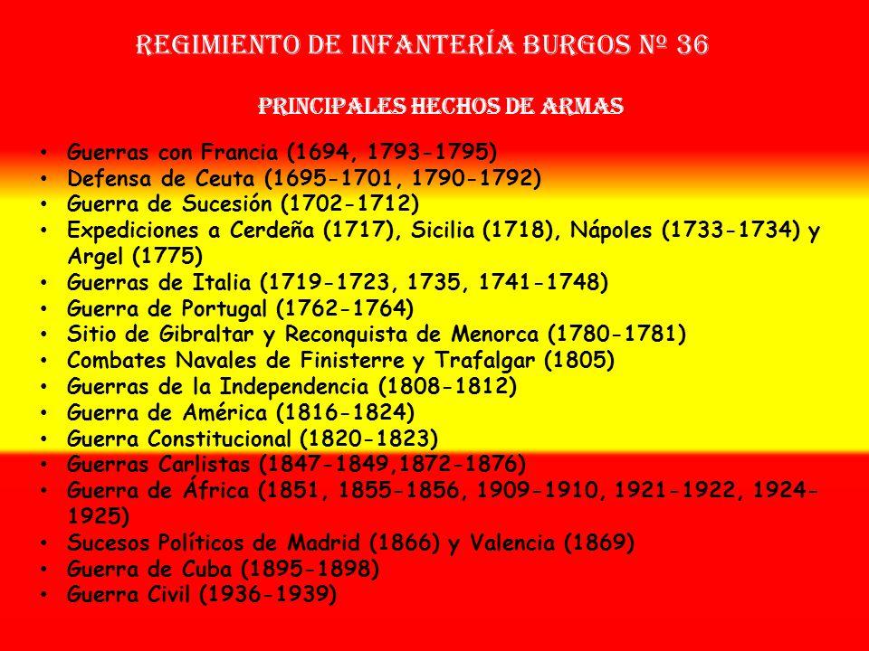 Sobrenombre: « El Sol» Creación: en 1.694 Como Tercio Provincial Nuevo de Burgos OTROS NOMBRES QUE HA TENIDO: Tercio de La Cerda (1700) Re. Provincial