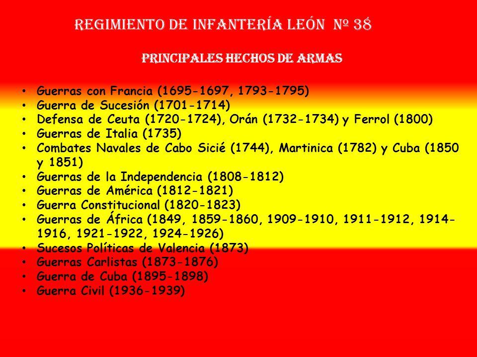 Sobrenombre: «El Arcabuceado» Creación: en 1.694 Como Tercio Provincial Nuevo de León OTROS NOMBRES QUE HA TENIDO: Tercio de los Amarillos Nuevos (170