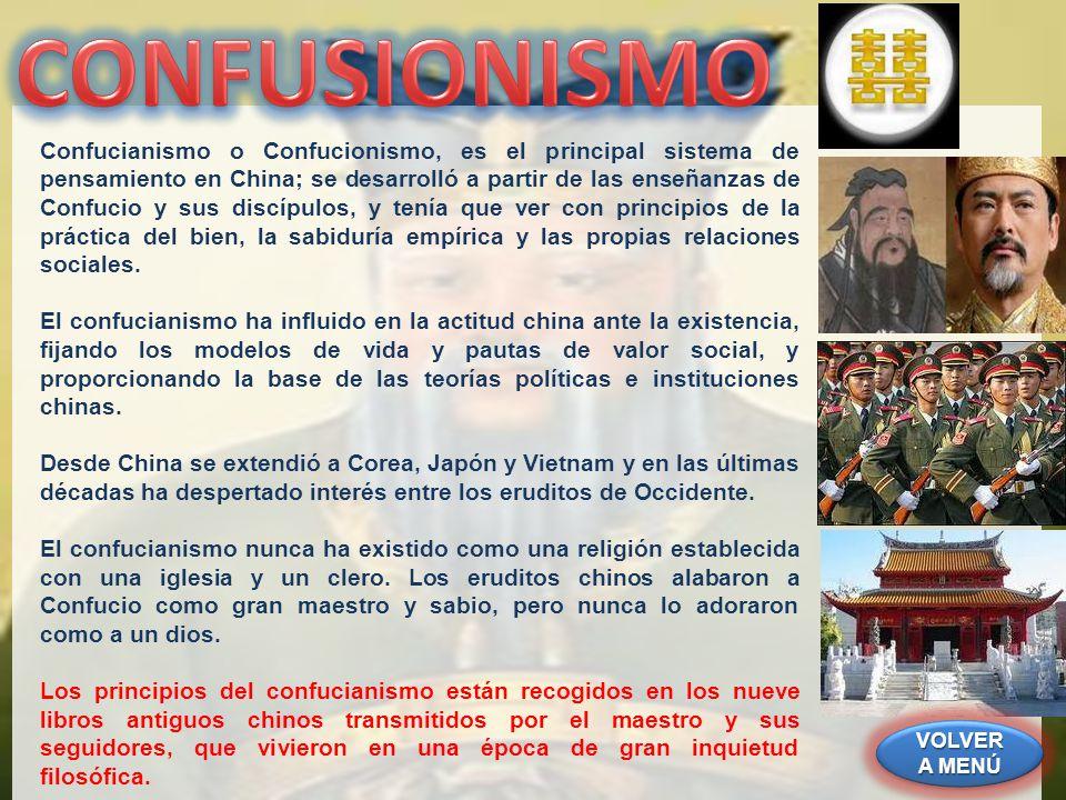 Confucianismo o Confucionismo, es el principal sistema de pensamiento en China; se desarrolló a partir de las enseñanzas de Confucio y sus discípulos,