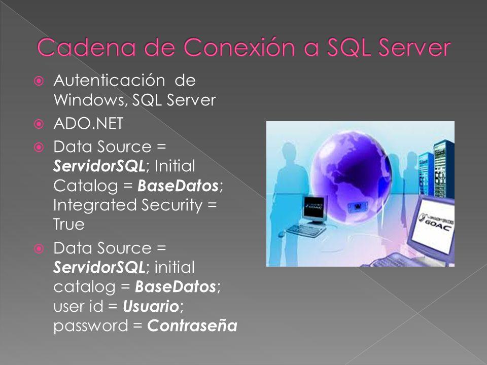 Componente Arquitectura Interfaz para acceder a los datos en diferentes entornos Define una API común para acceder a diferentes BD Cada SGBD tiene su