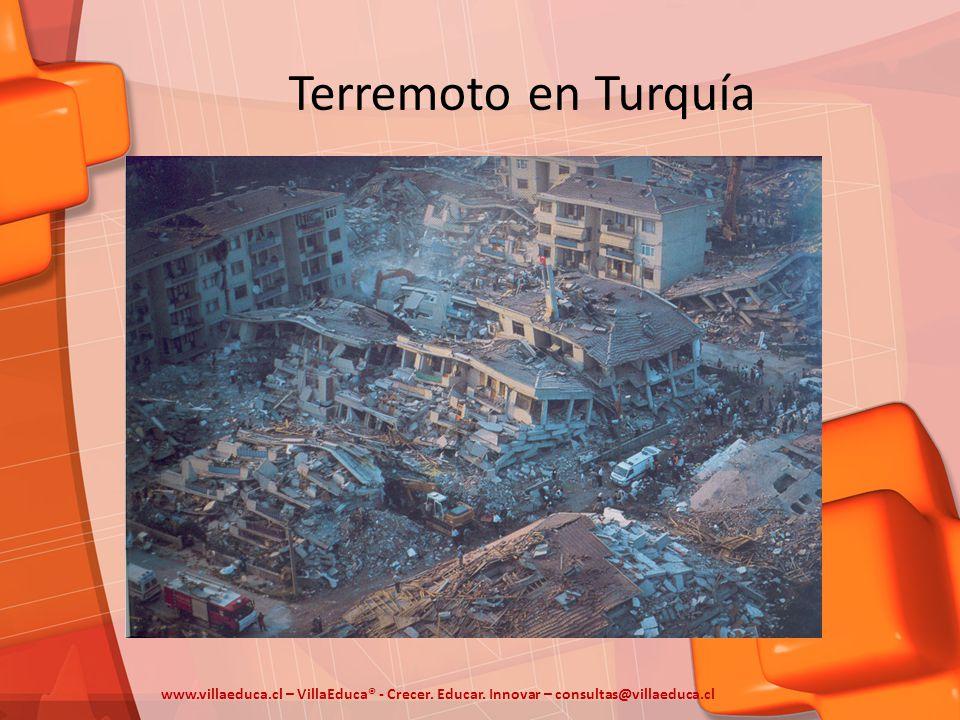 Terremoto en Turquía www.villaeduca.cl – VillaEduca® - Crecer. Educar. Innovar – consultas@villaeduca.cl