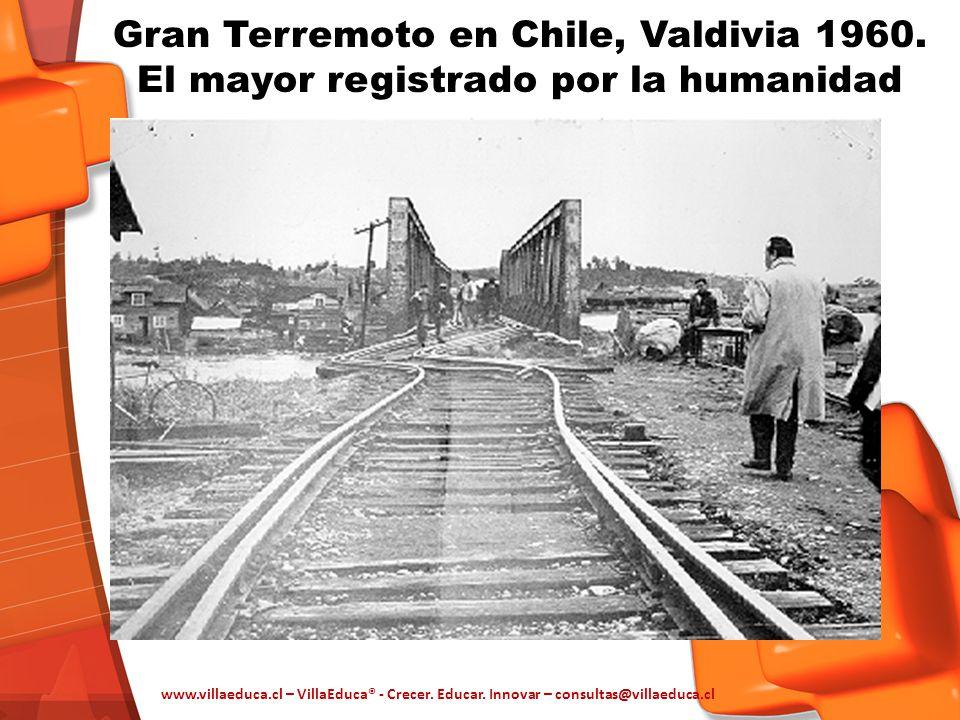 Gran Terremoto en Chile, Valdivia 1960. El mayor registrado por la humanidad www.villaeduca.cl – VillaEduca® - Crecer. Educar. Innovar – consultas@vil
