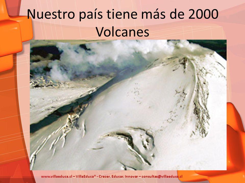 Nuestro país tiene más de 2000 Volcanes www.villaeduca.cl – VillaEduca® - Crecer. Educar. Innovar – consultas@villaeduca.cl