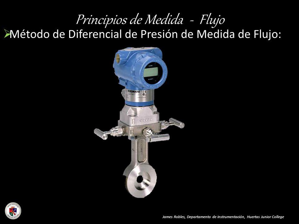 Principios de Medida - Flujo Método de Diferencial de Presión de Medida de Flujo: James Robles, Departamento de Instrumentación, Huertas Junior Colleg