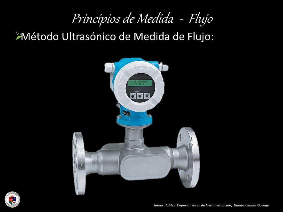 Principios de Medida - Flujo Método Ultrasónico de Medida de Flujo: James Robles, Departamento de Instrumentación, Huertas Junior College