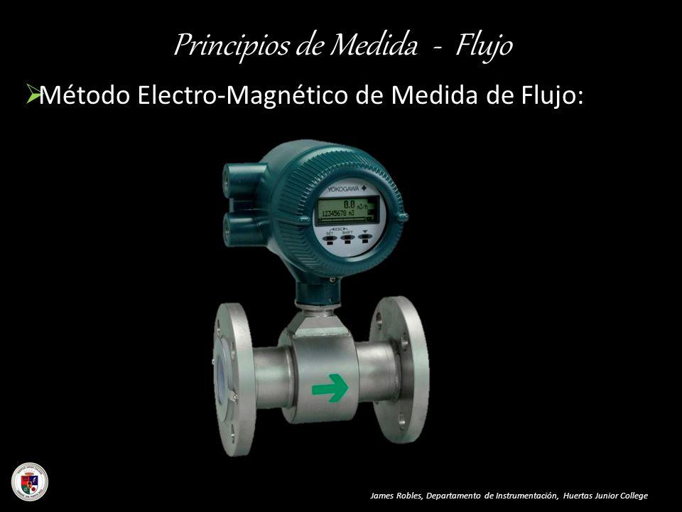 Principios de Medida - Flujo Método Electro-Magnético de Medida de Flujo: James Robles, Departamento de Instrumentación, Huertas Junior College