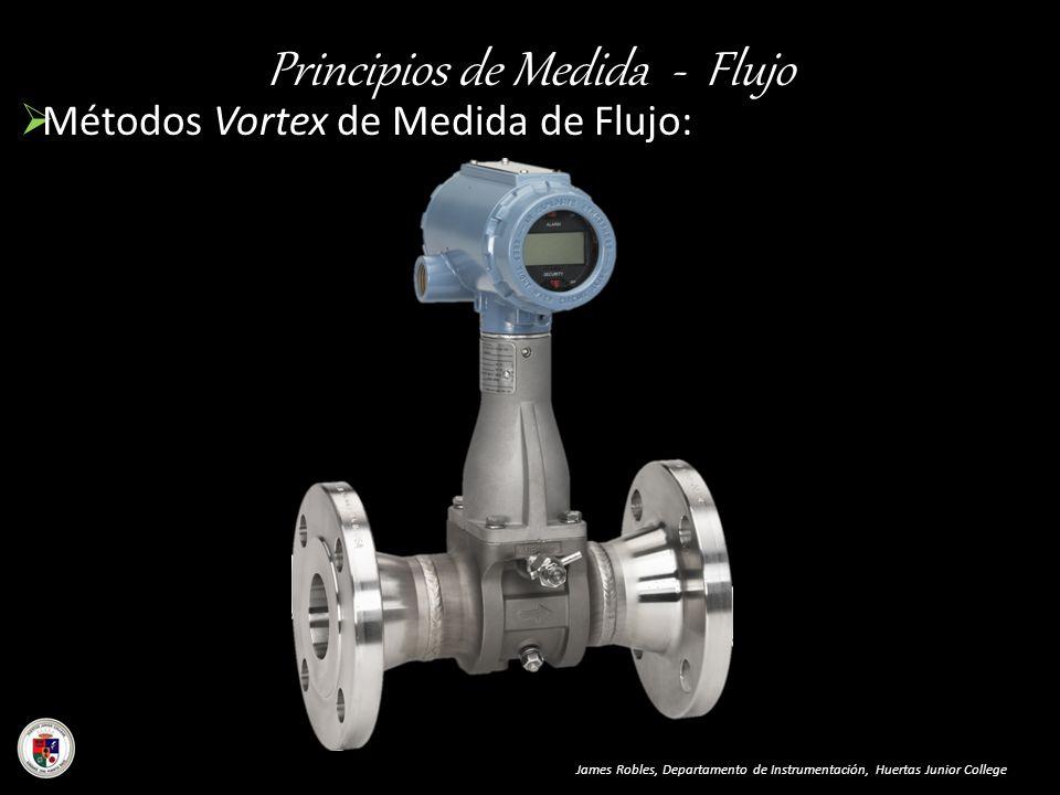 Principios de Medida - Flujo Métodos Vortex de Medida de Flujo: James Robles, Departamento de Instrumentación, Huertas Junior College