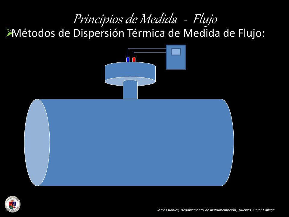 Principios de Medida - Flujo Métodos de Dispersión Térmica de Medida de Flujo: James Robles, Departamento de Instrumentación, Huertas Junior College F