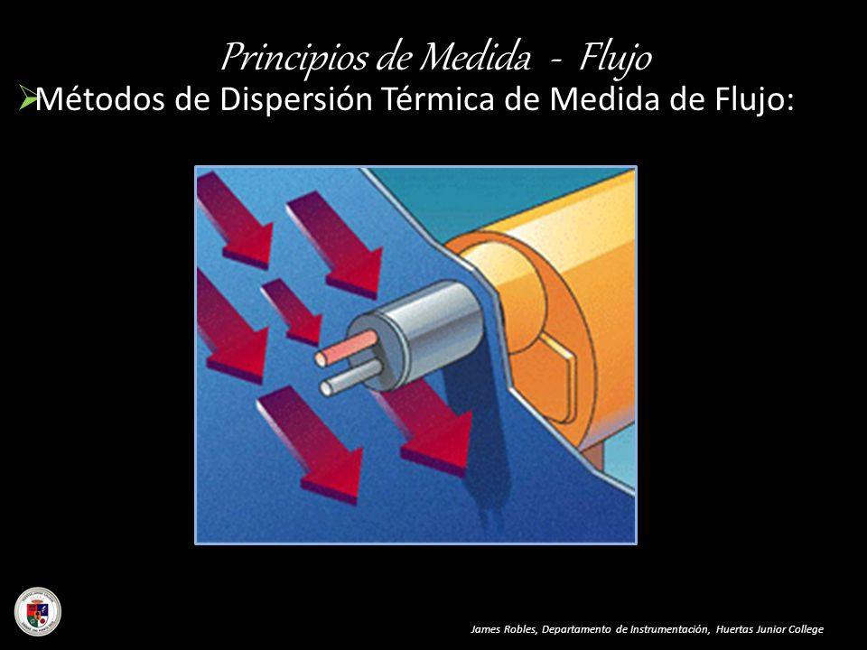 Principios de Medida - Flujo Métodos de Dispersión Térmica de Medida de Flujo: James Robles, Departamento de Instrumentación, Huertas Junior College