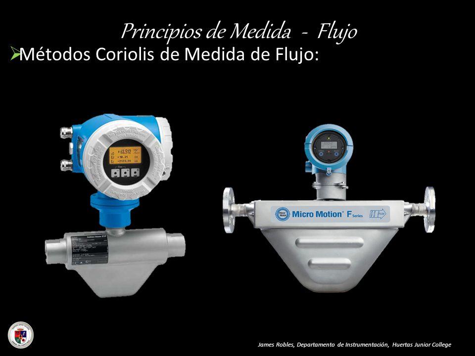 Principios de Medida - Flujo James Robles, Departamento de Instrumentación, Huertas Junior College Métodos Coriolis de Medida de Flujo: