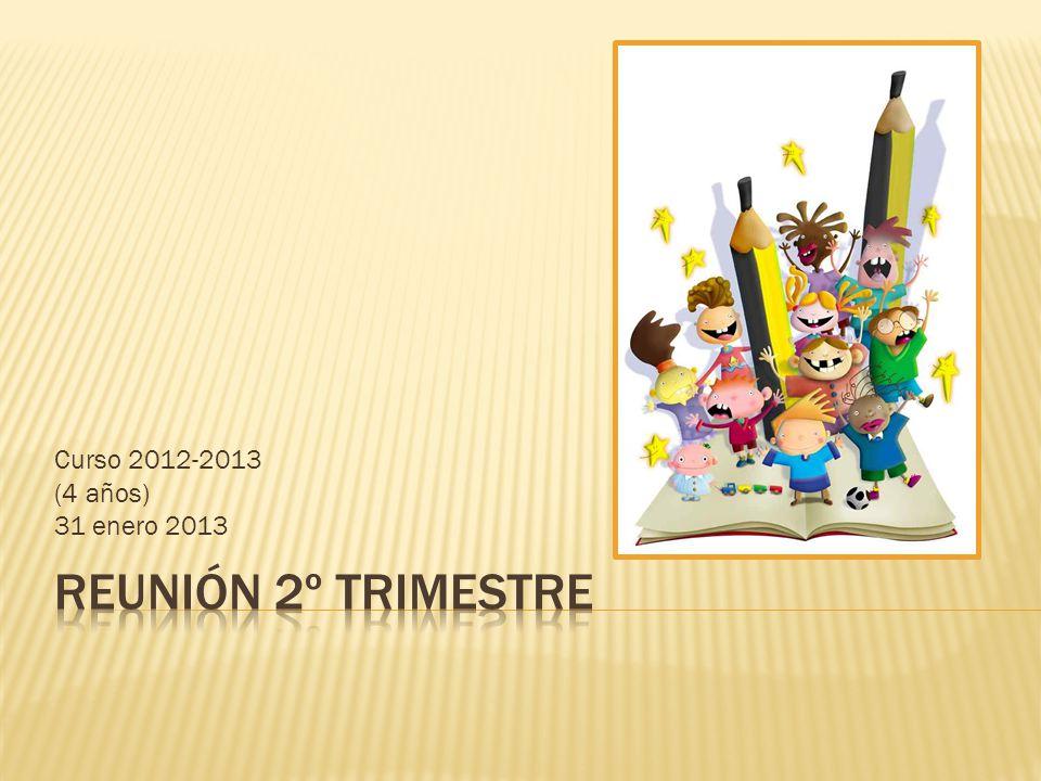 Curso 2012-2013 (4 años) 31 enero 2013