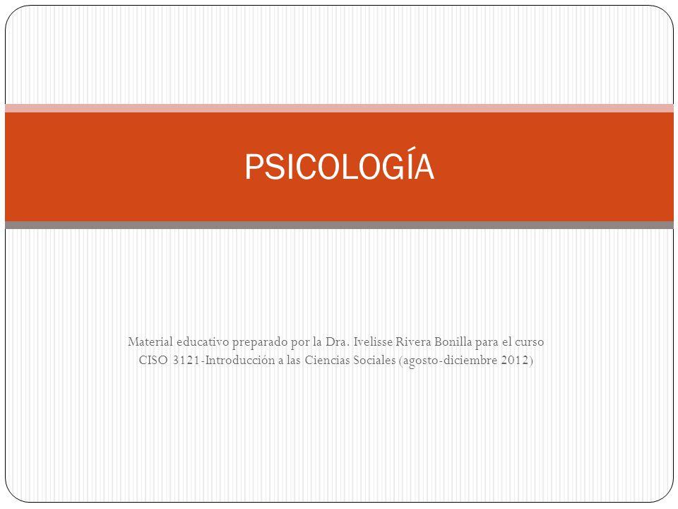 Material educativo preparado por la Dra. Ivelisse Rivera Bonilla para el curso CISO 3121-Introducción a las Ciencias Sociales (agosto-diciembre 2012)