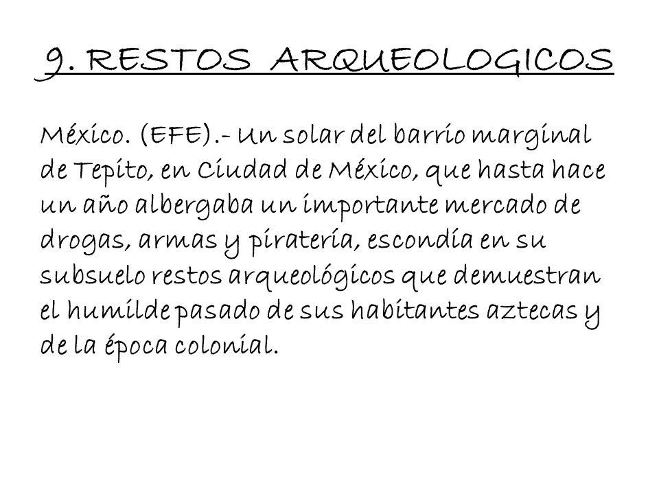 8.1. ECONOMÍA Comercio : El comercio de los aztecas se basaba principalmente en el trueque. Además que posiblemente habrían existido ferias en el impe