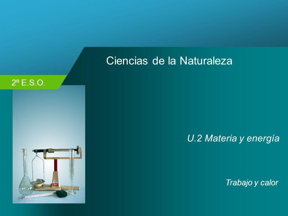 2º E.S.O. Ciencias de la Naturaleza U.2 Materia y energía Trabajo y calor