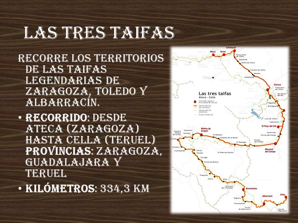 Las tres taifas Recorre los territorios de las taifas legendarias de Zaragoza, Toledo y Albarracín.