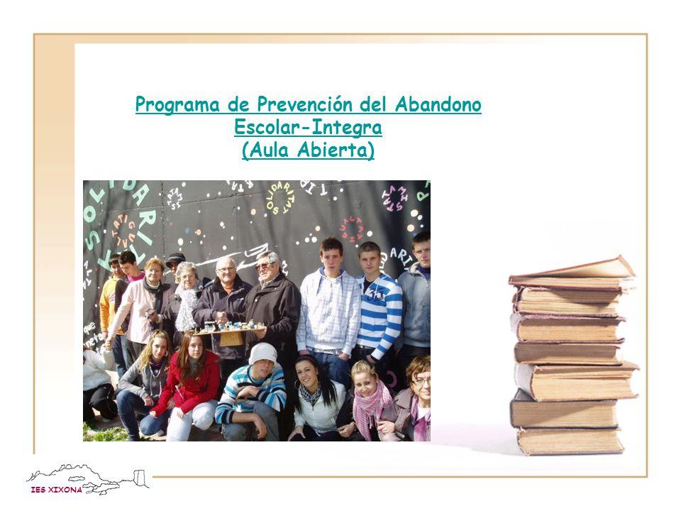 IES XIXONA Programa de Refuerzo y Orientación Académica (PROA) Impulsar un replanteamiento global de la organización y el funcionamiento del instituto, que incluya la revisión, por lo menos, de los siguientes ámbitos: la atención directa al alumnado, la intervención con las familias y la relación con el entorno.