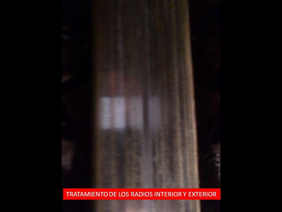 TRATAMIENTO DE LOS RADIOS INTERIOR Y EXTERIOR