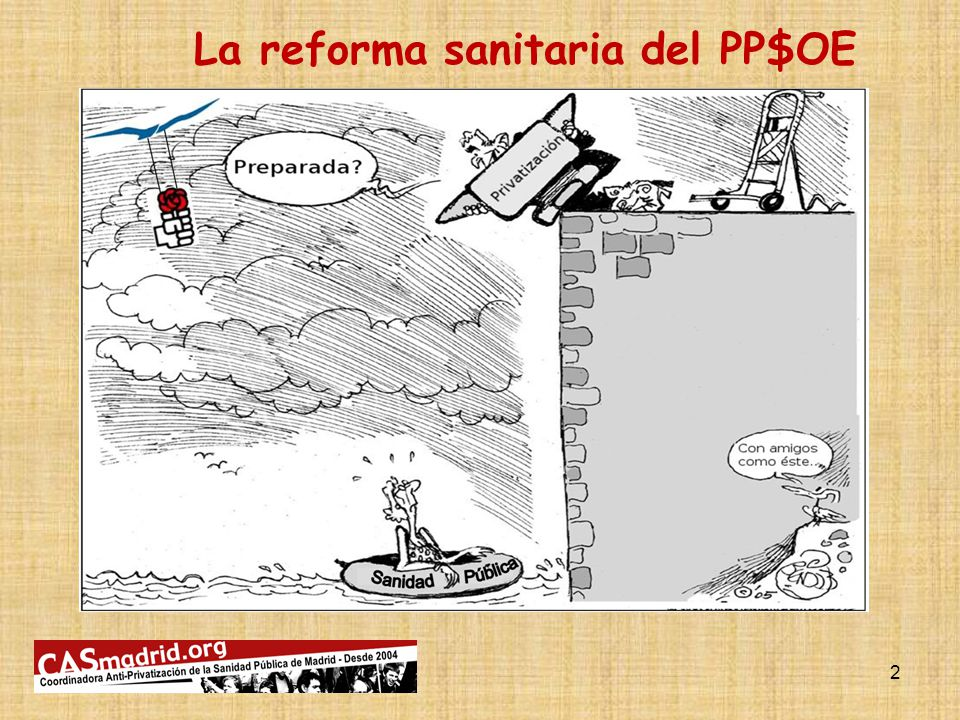 La reforma sanitaria del PP$OE 2