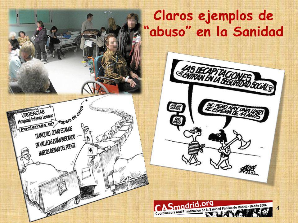 4 Claros ejemplos de abuso en la Sanidad
