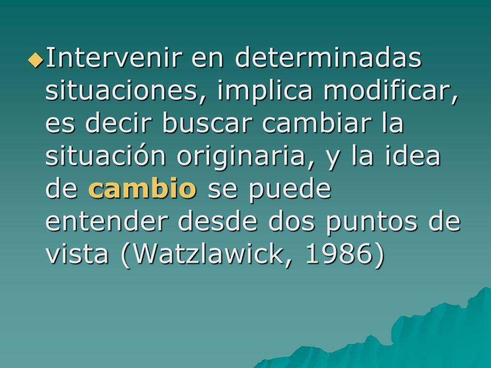La intervención social: Intervenciones dirigidas y/o Intervenciones participativas La intervención social: Intervenciones dirigidas y/o Intervenciones participativas La intervención social dirigida, dibuja una relación en la que los/as primeros/as buscan incidir con su acción en la calidad de vida de los/as segundos/as para transformar situaciones que son vistas como problemáticas.