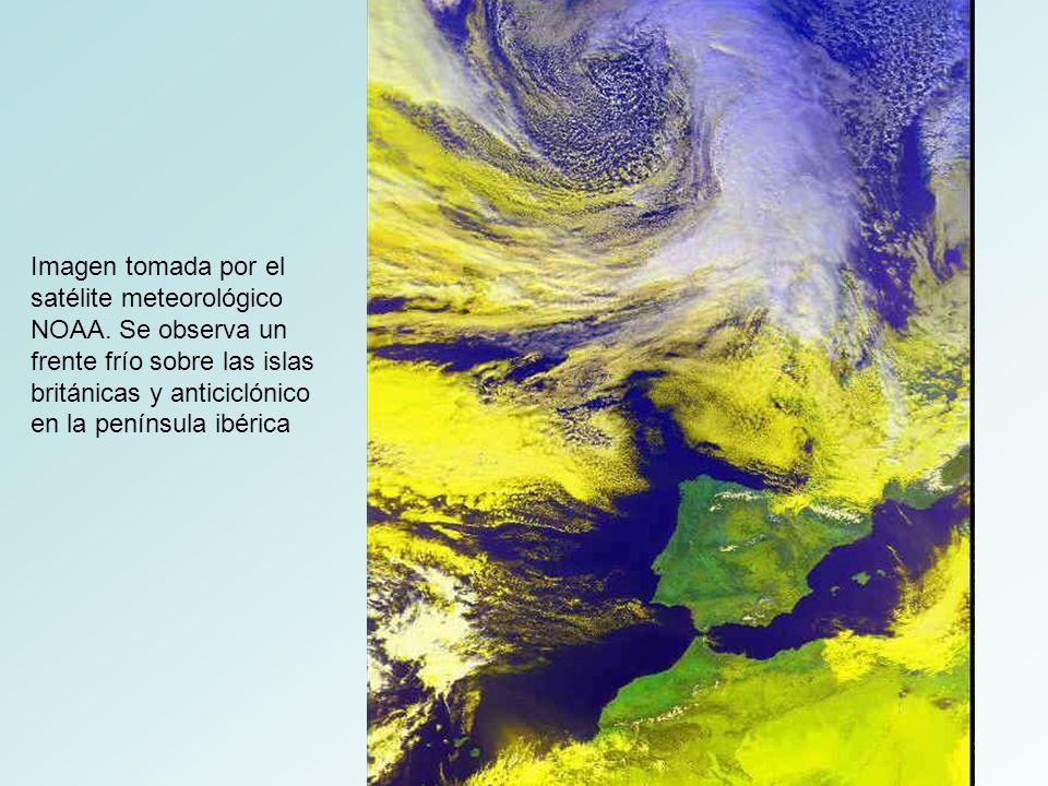 Imagen tomada por el satélite meteorológico NOAA.