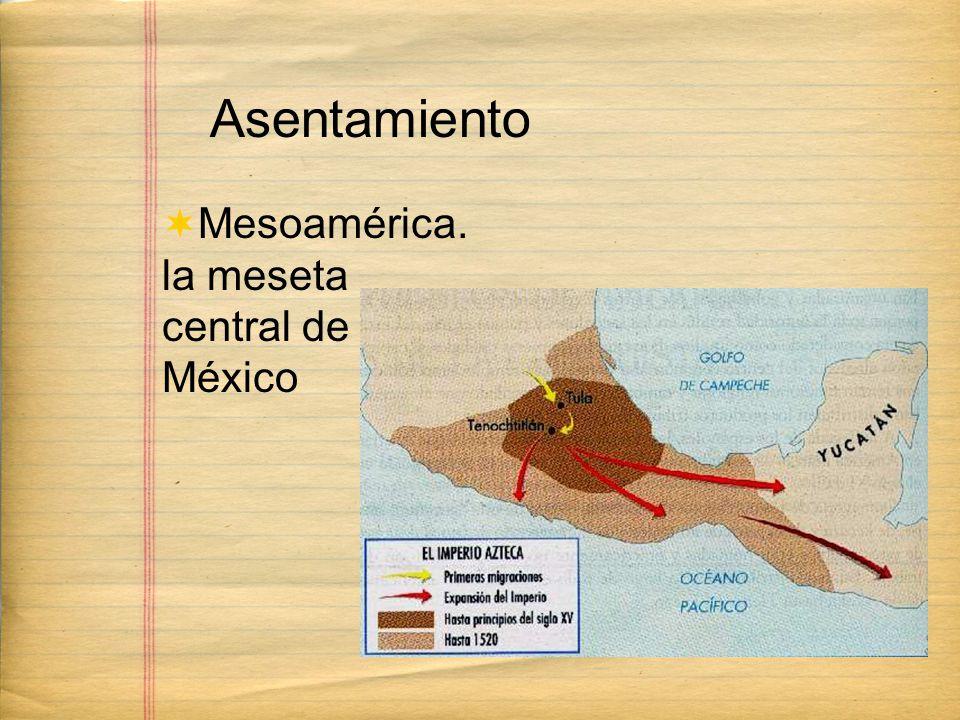 Asentamiento Mesoamérica. la meseta central de México