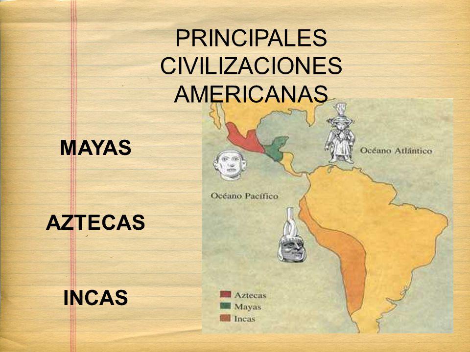 MAYAS AZTECAS INCAS PRINCIPALES CIVILIZACIONES AMERICANAS